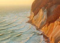 Ernst-Moritz-Arndt-Lookout, Limestone coast, European beech (Fagus sylvatica) & Baltic Sea. Ruegen, Jasmund National Park, Ancient Beech Forest UNESCO Heritage Site, Germany